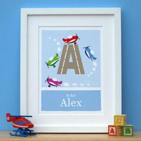 Aeroplane Alphabet Print
