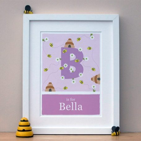personalised bee print