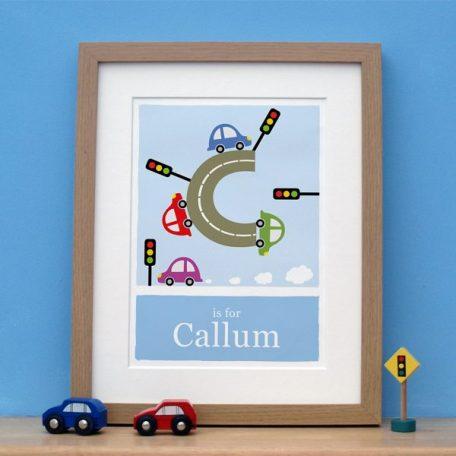 personalised car print main image