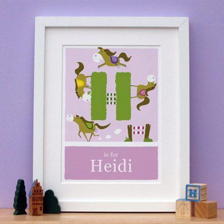 personalised alphabet horse print main image