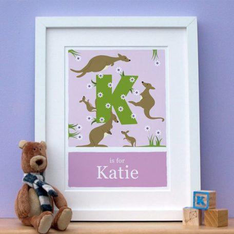 alphabet kangaroo print main image