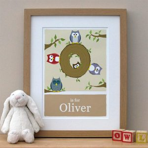 personalised owl print main image