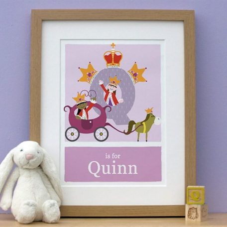 personalised alphabet queen print