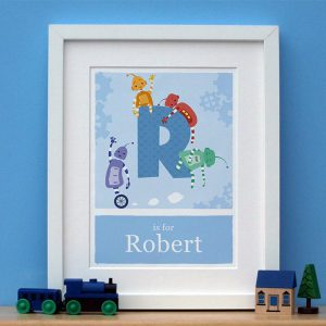 personalised robot print main image