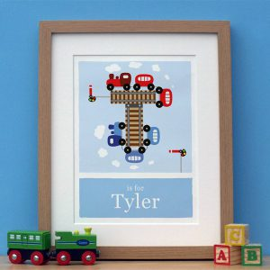 personalised train print main image