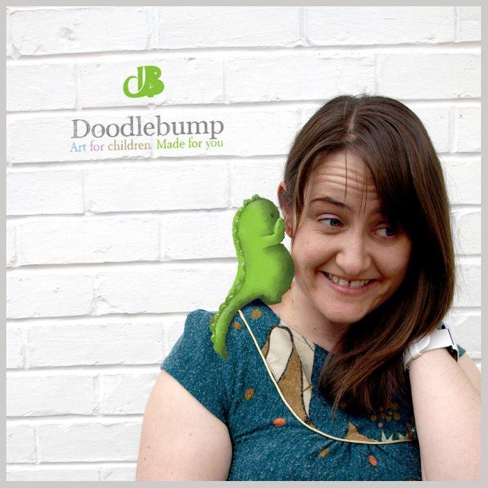 Christina Batchelor with Doodlebump on her shoulder