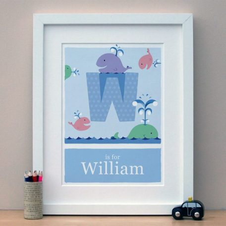 personalised whale print main image