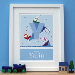 personalised yacht print