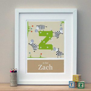 personalised zebra print