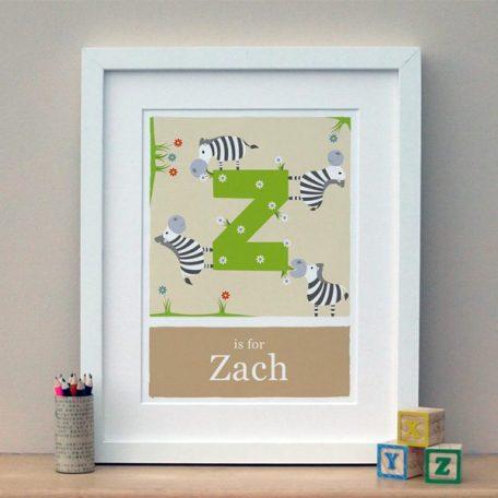 personalised zebra print
