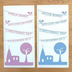 personalised church christening card