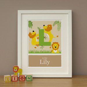 Lion Print by Doodlebump