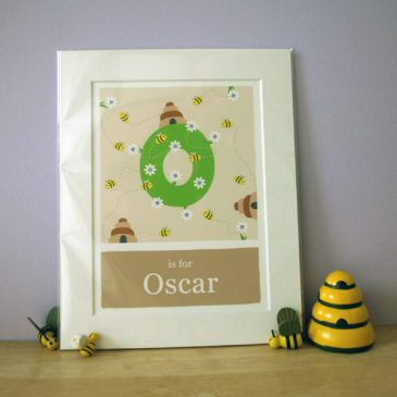 O is for Oscar free giveaway by Doodlebump