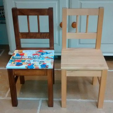 upcycling childs chair before and after