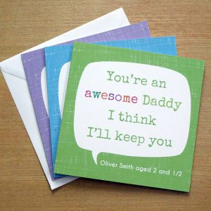personalised awesome father's day card