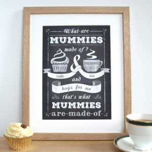 personalised cake and tea chalkboard print by Doodlebump
