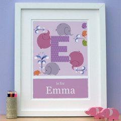 personalised elephant print main image