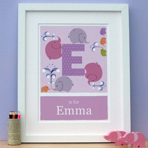 personalised elephant print main image