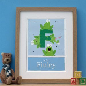 personalised alphabet frog print main image