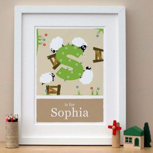personalised sheep print main image