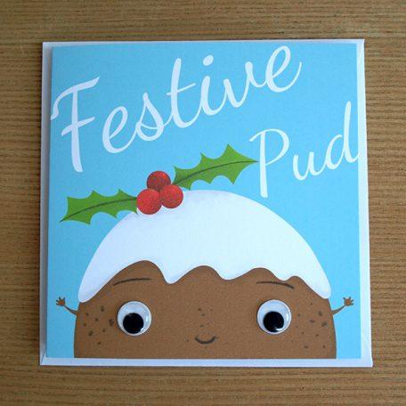 festive Christimas pudding card