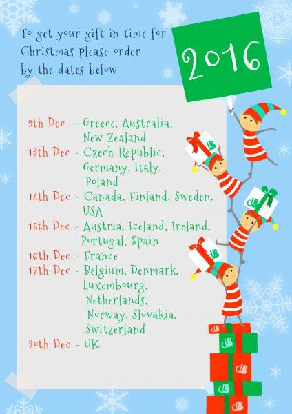 Christmas last order dates 2016